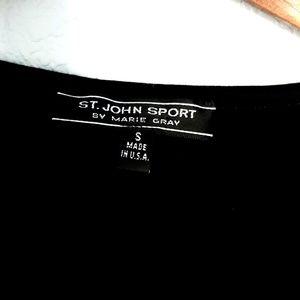 St. John Tops - St. John Sport by Marie Gray Basic Black Tee Sz S